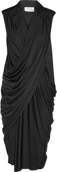 YVES SAINT LAURENT ~~ Draped Satin Jersey Dress    a must for all girls ...so flattering