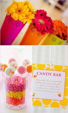 Pepper Design Blog » Blog Archive » {Pink & Orange} An Adorable Summer Kid's Party