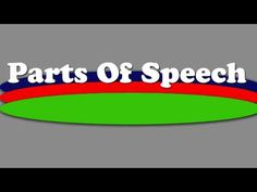 ▶ Part's Of Speech Rap/Song - YouTube  A few of my kids would love this!