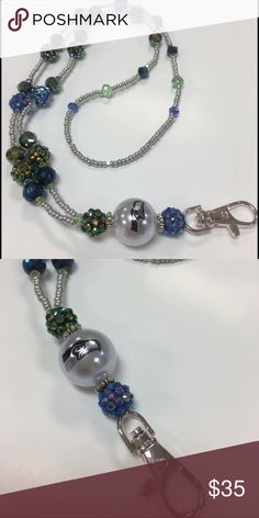 """Seattle Seahawks Landyard Lanyard made of Crystal and seedbeads approximately 34""""round. The design and color sports our Seattle Seahawks team. Go-Hawks!! Accessories"""