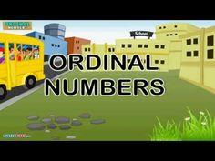 Vídeo para practicar los números ordinales, y además en inglés.