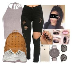 """""""Untitled #645"""" by camsxbae ❤ liked on Polyvore featuring Boohoo, MCM, Michael Kors and Moncler"""