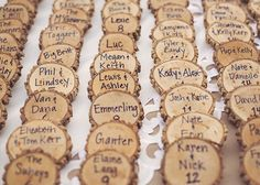 Wood Place Cards Country Wedding