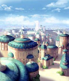 Fantasy City, Fantasy Castle, Fantasy Places, High Fantasy, Fantasy World, Fantasy Art Landscapes, Fantasy Landscape, Landscape Art, Landscape Concept