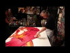 ▶ CONFLUENCE - New Large Flow Paintings by Jonas Gerard - YouTube (8:38)