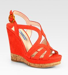 Prada Italian wedge  .....  shoe of the day