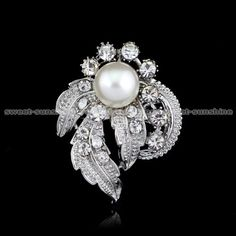 Hight Quality crystal Rhinestone Brooches pins Fashion scarf pin pearl  lapel pins brooch for party wedding jewelry lady gifts b2fcc156de43