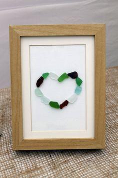 Sea Glass Art Heart