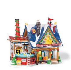 """Department 56: Products - """"Rubber Duck Factory"""" - View Lighted Buildings. Retired. North pole"""