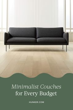 Whether you're trying to spend as little as possible or have an urge to splurge, we've identified the right minimalist sofa for you. Scroll down to see all of the chaise, daybed, loveseats, modular, and sectional sofa options. #hunkerhome #minimalist #minimalistcouch #minimalistcouchideas
