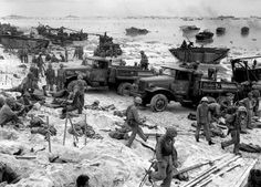 The beach at Peleliu in the of fall 1944
