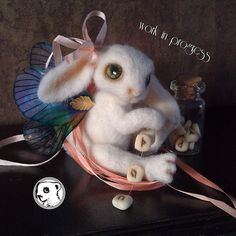Work in progress mystic bunny #needlefelted #feltvisual #handmade #ooak | Flickr - Photo Sharing!