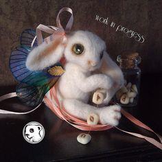 Work in progress mystic bunny #needlefelted #feltvisual #handmade #ooak | Flickr - Photo Sharing!