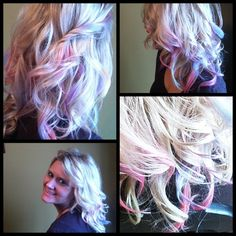I want to do this.  Temporary hair due with hair chalk! So cool!!