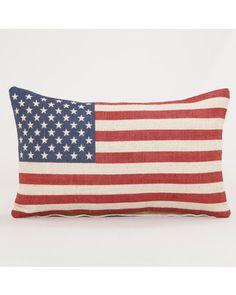 Star Spangled Banner vintage pillow