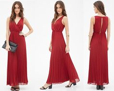 This Accordion Pleated Maxi Dress is crafted from a lightweight crepe that delivers a flowing and dramatic movement.