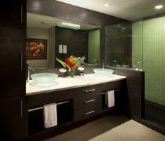 Master bedroom en-suite with double vanities and shower. Jaco, Costa Rica