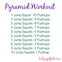 Fitness Friday: Pyramid Workout