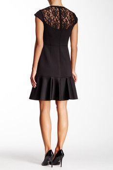 Rebecca Taylor Mod Lace Back Dress