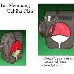 Tas Slempang Uchiha clan bahan drat halus 1806 yang awet dan tidak mudah rusak dengan aplikasi bahan