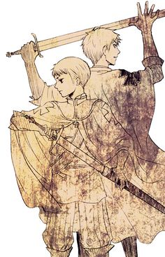 Young Ludwig (or HRE) and Gilbert - Art by 樂 on Pixiv, found via Zerochan