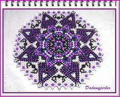 pattern danish weaving doily 12 seed beads régular technique in ENGLISH for learn the symbols use in danish weaving , big picture send pdf Doily Patterns, Beading Patterns, Cross Stitch Patterns, Beading Ideas, Weaving Projects, Beaded Bags, Brick Stitch, Bead Weaving, Beaded Embroidery