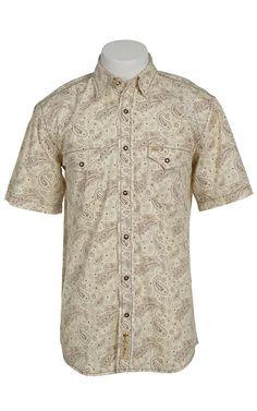 Larry Mahan Mens Short Sleeve Western Snap Shirt LM1421412