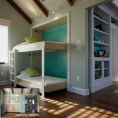 Guest Room bunks in a cubby.