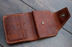 EQ Urban Accessories Mens Wallet PERSONALIZED Leather Wallet by LeatherCentury on Etsy If you love fashion check us out. We're always adding new products for your closet! Personalized Leather Wallet, Handmade Leather Wallet, Leather Gifts, Leather Men, Leather Tooling, Leather Purses, Leather Wallets, Leather Wallet Pattern, Leather Projects