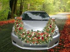 Fresh Flower Wedding Car Decoration in Various Models - Happy Wedding . Wedding Send Off, Wedding Cars, Wedding Events, Wedding Ceremony, Dream Wedding, Wedding Dress, Weddings, Floral Wedding Decorations, Flower Decorations