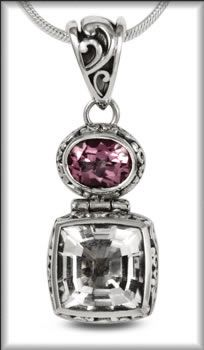 Sterling Silver drop pendant from the Panos Collection by Metalsmiths at Kleinhenz Jewelers