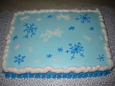 snowman themed sheet cakes - Google Search