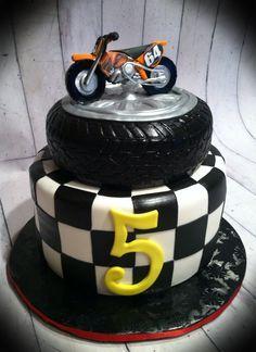 Motor cross cake. Motorcycle is edible.