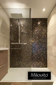 Bathroom Design Luxury, Bathroom Design Small, Modern Bathroom, Bathroom Design Inspiration, Bad Inspiration, Contemporary Baths, Mosaic Bathroom, Luxury Shower, Bathroom Plans