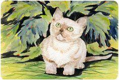 Cat - Burmese Mouse pad, hot pad, or trivet