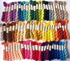 Renaissance Dyeing crewel wool