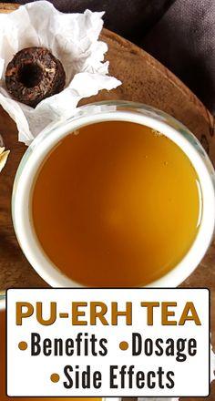 Tea Types, Different Types Of Tea, Pu Erh Tea, Tea Benefits, Side Effects, Teas, Drinking Tea, Healthy Drinks, Brewing