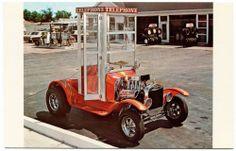 1960s Telephone Booth Custom Hot Rod Carl Casper's MPC Model Car Kit