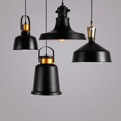 123.77$ Watch now - http://ali3c7.worldwells.pw/go.php?t=32755247148 - Modern industrial LED Pendant Lights Black Lighting Aluminum Hanging Lamp E27 Bulb Holder Lamps Home Decoration