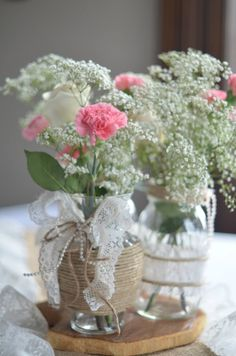Flower Girl? Baby's Breath Bouquet with a Couple Roses & Carnations?
