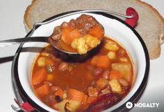 Bean goulash stew   Babgulyás bográcsban Károly konyhájából   NOSALTY