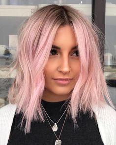 10 Beautiful Pink Pastel Hair Colors & Hairstyles for 2019 Ombre Hair pastel pink hair ombre Pastel Pink Hair, Hair Color Pink, Cool Hair Color, Short Pastel Hair, Rose Pink Hair, Pink Blonde Hair, Brown And Pink Hair, Baby Pink Hair, Hair Colours