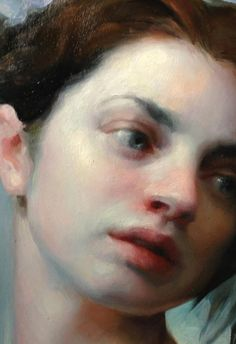 "Maria Kreyn (Russian-born): untitled [portrait of a young woman]. Oil on canvas. ""... so beautifully sensual! Kreyn has the unmistakeable mark of having trained at THE ANGEL STUDIOS, in Toronto ON, Canada, in the tradition of 'The Old Masters' , amongst others..."""