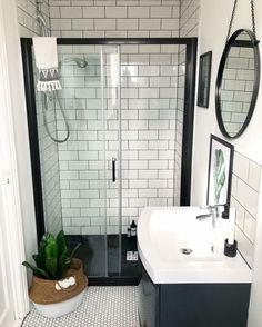 Bathroom Inspiration // Nest Twenty Eight Wet Room Shower, Small Bathroom With Shower, Small Showers, Shower Door, Condo Bathroom, Ensuite Bathrooms, Small Bathrooms, Basement Bathroom, Bathroom Interior Design