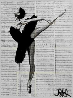 "Saatchi Online Artist Loui Jover; Drawing, ""the black tutu"" #art"