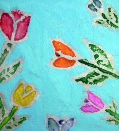 Batik with wax outline on Viva paper towels