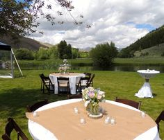 Spring wedding in Sun Valley, Idaho. Planning and decor by Taylor'd Events