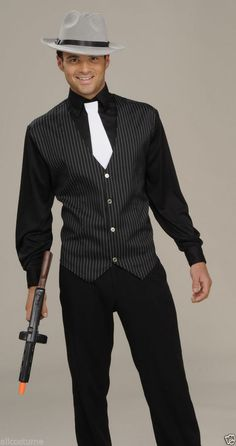 1920's Gangster Costume Shirt Vest with Tie 63107 #Fashion #Style #Deal