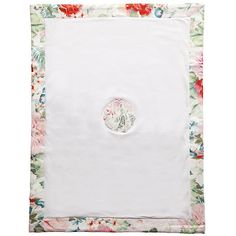 Gorgeous floral baby blanket by Roberto Cavalli Designer Baby Blankets, White Romper, Baby Design, Roberto Cavalli, Childhood, Floral, Bebe, Daughter, Infancy