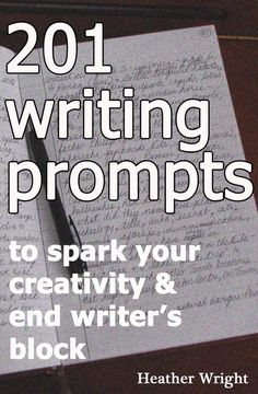 201 Writing Prompts - Write everyday to improve your craft! Prompts are great if you're experiencing writer's block. Writing Programs, Writing Advice, Writing Resources, Teaching Writing, Writing Help, Writing Skills, Writing A Book, Essay Writing, Start Writing